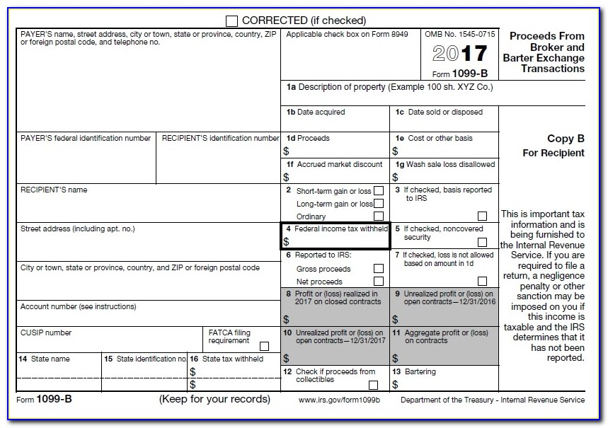 1099 Fillable Form Free