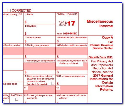 1099 Misc Form 2015 Fillable