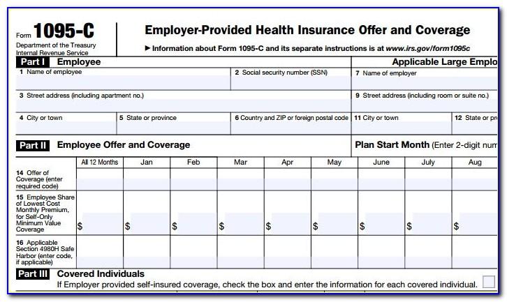 Aca Form 1095 Deadline
