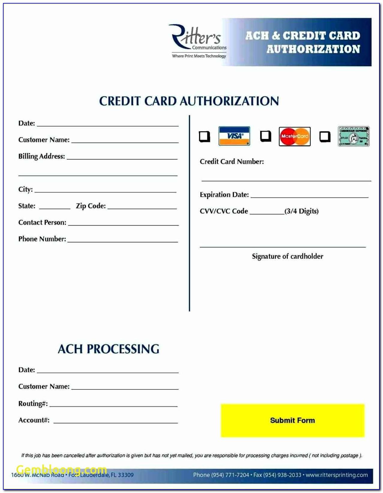 Credit Card Form Template New 25 Images Of Ach Enrollment Template Eucotech Com