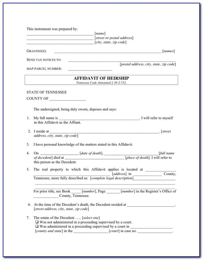Affidavit Of Heirship Form New Mexico