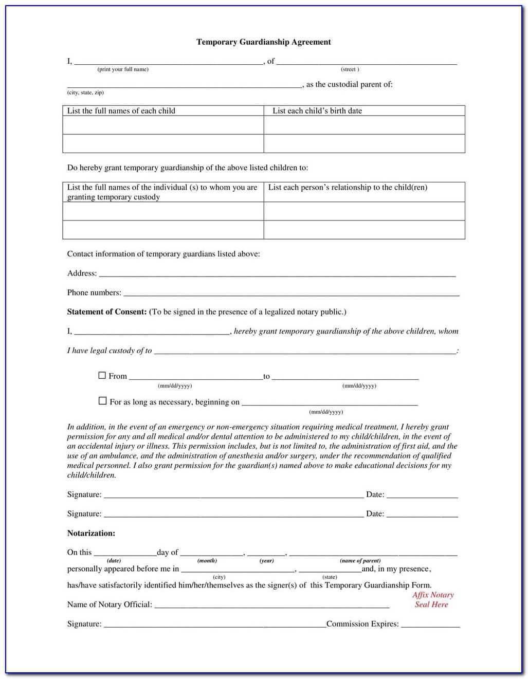 Arizona Superior Court Guardianship Forms