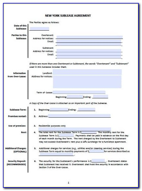 Ca Residential Lease Form Pdf