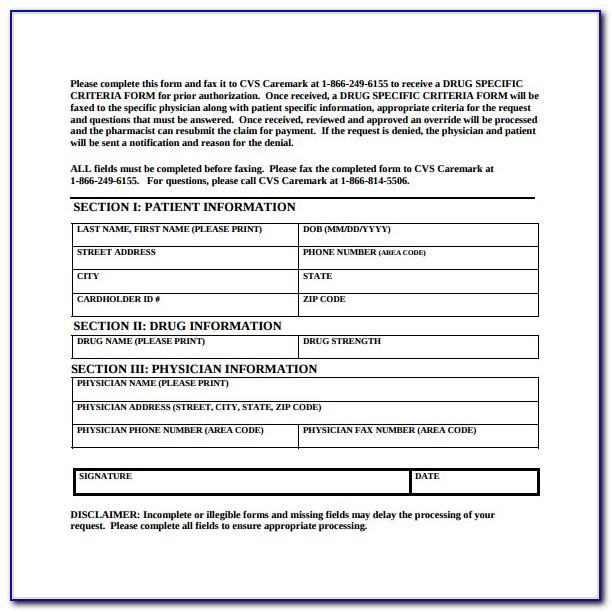 Cigna Medicare Prior Authorization Form For Medication