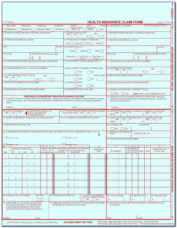 Cms Form 1500 Certification