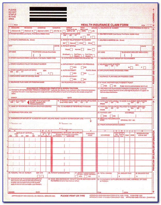 Cms Form 1500 Pdf