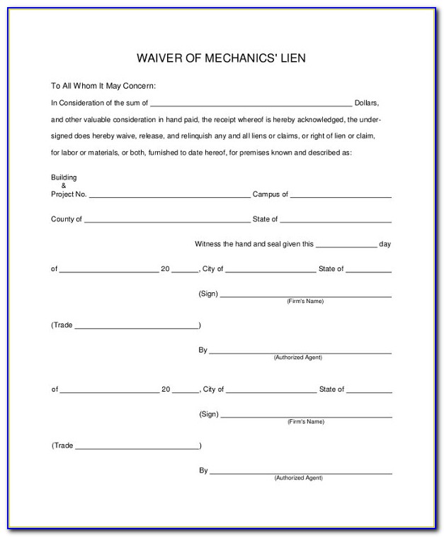 Sample Lien Waiver Form 8+ Examples In Pdf, Word Intended For Lien Waiver Template