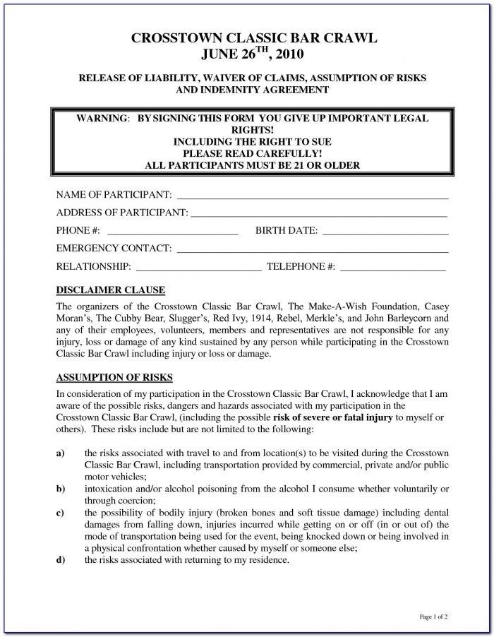 Release Of Liability Form Luxury Trampoline Release
