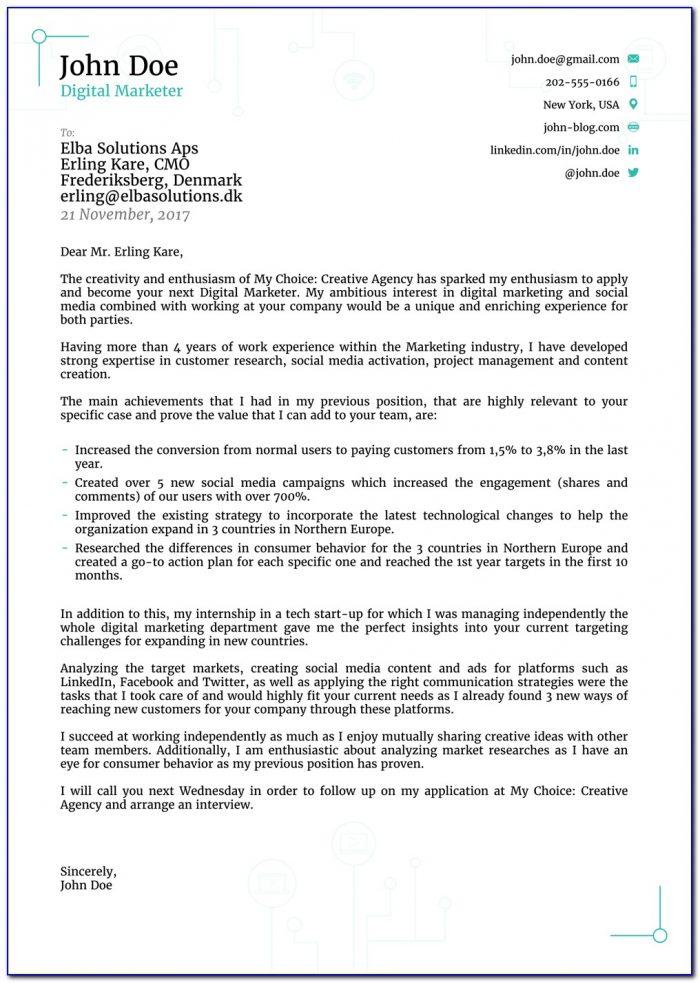 Cover Letter Sample For Resume Fresh Graduate