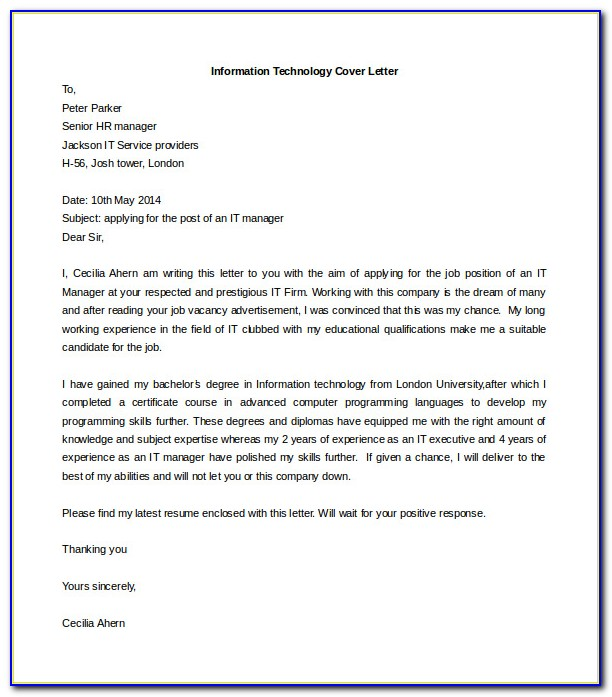 Cover Letter Samples Free Pdf