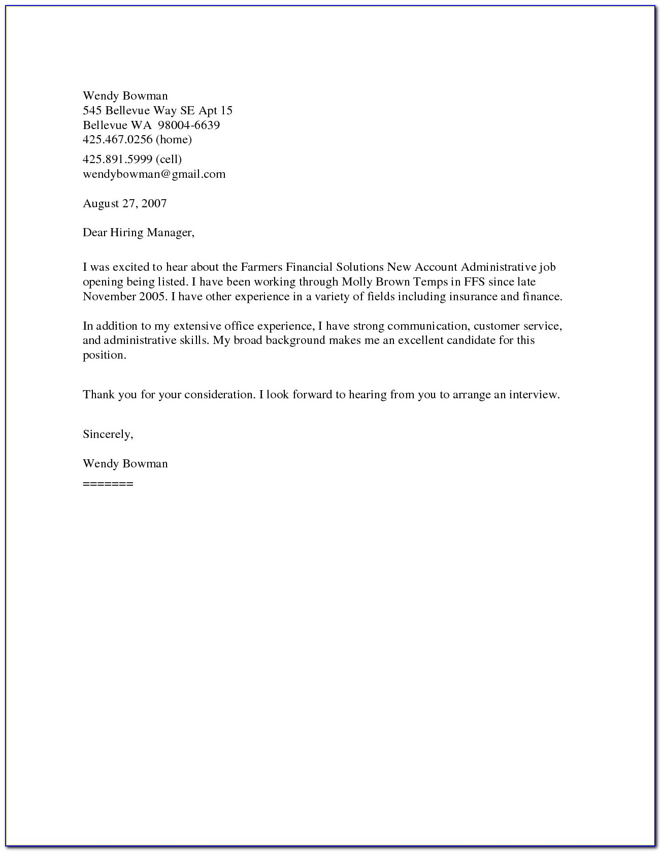 General Resume Cover Letter Resume Templates For General Resume Cover Letter Examples