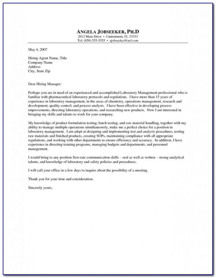 Creating A Resume Cover Letter Sample