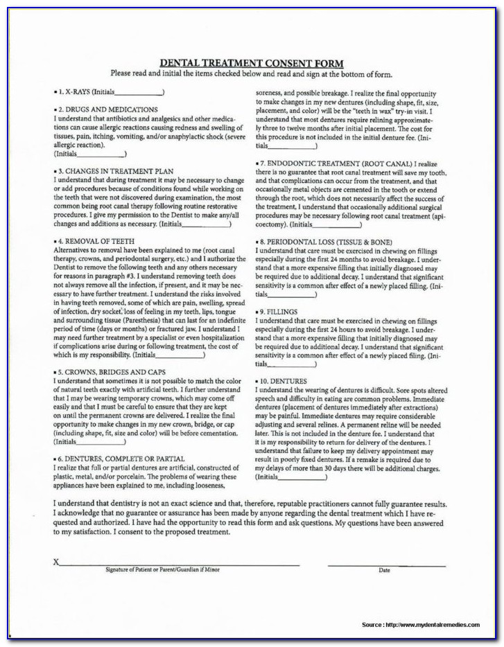 Dental Implant Removal Consent Form Form Resume Examples