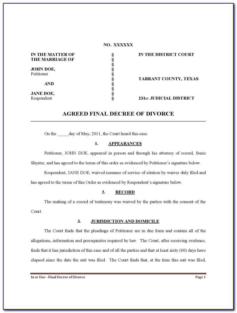Divorce In Bexar County Texas Forms