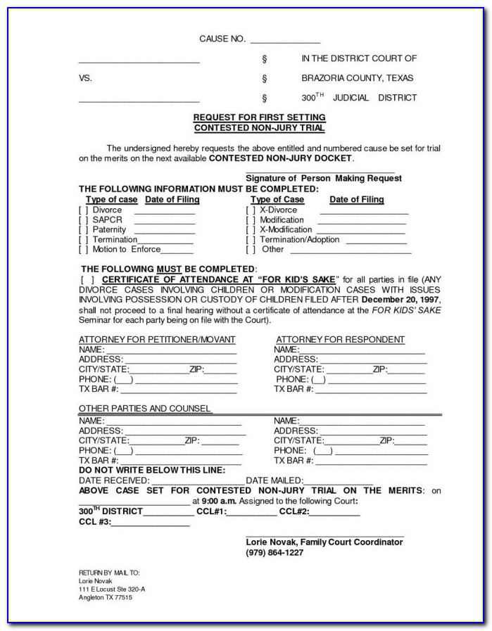 Divorce Paperwork Nj