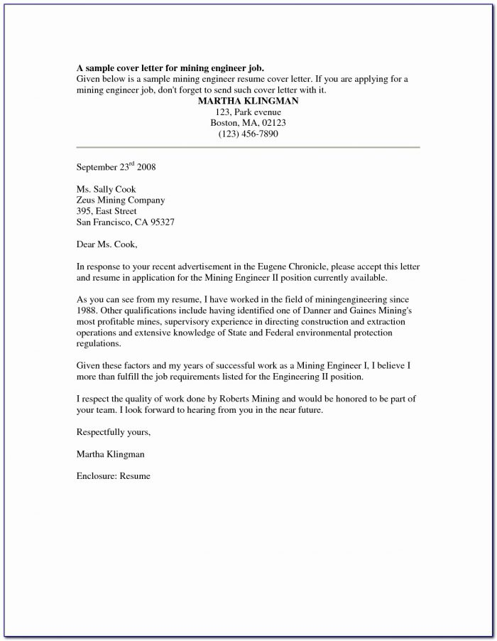 Download Resume Cover Letter