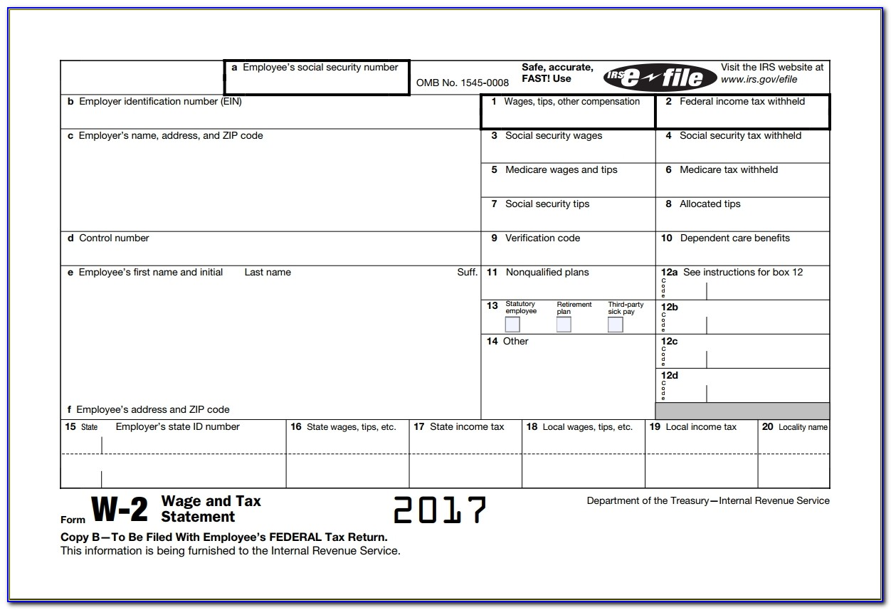 W 2 Wage Taxable Irs And State Income? Form W2 Explained. With Free W2 Template 2018