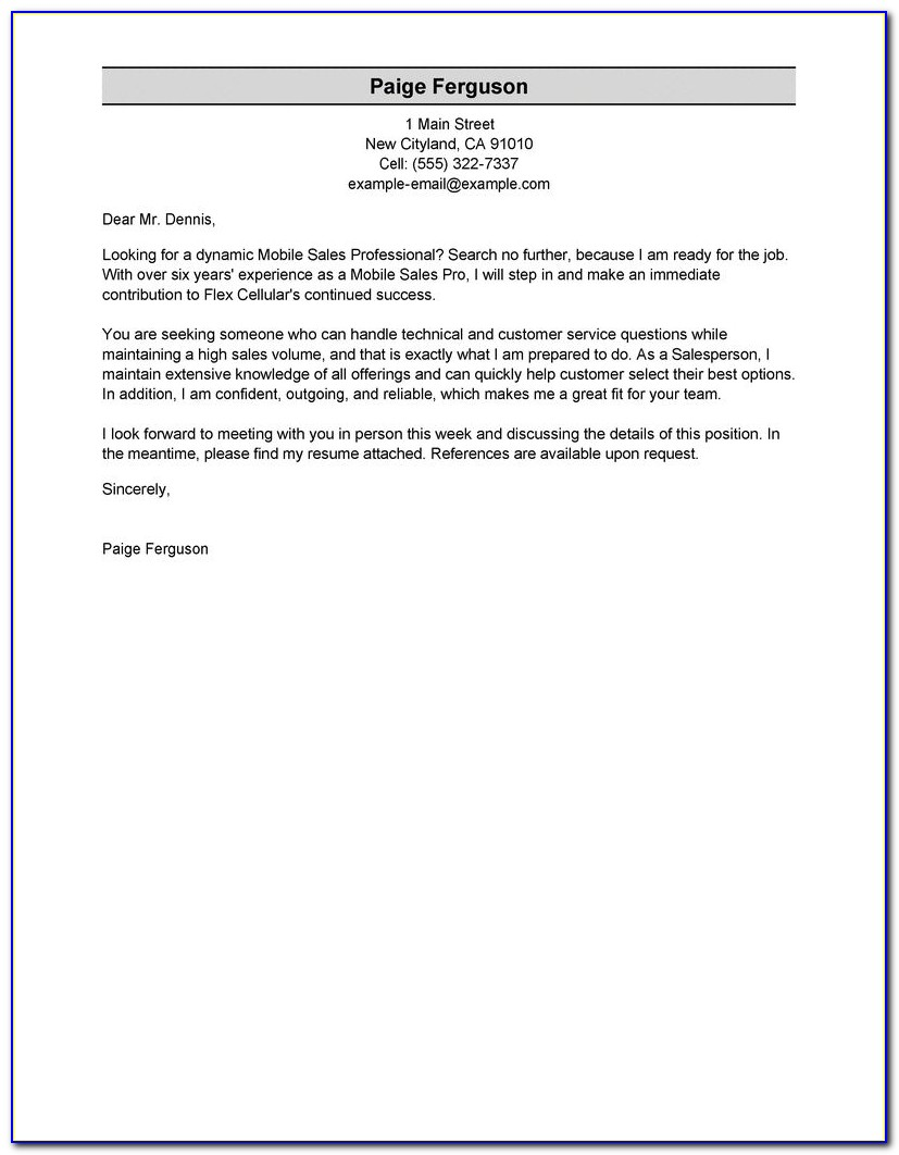 Examples Of Executive Resumes And Cover Letters