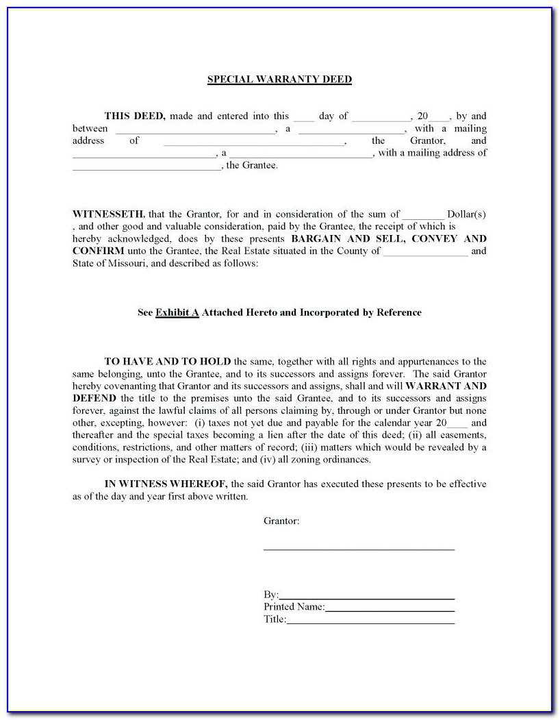 Florida Bar Warranty Deed Form