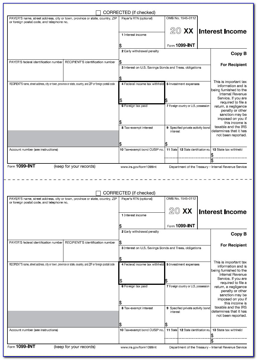 Form 1099 Int Instructions 2016