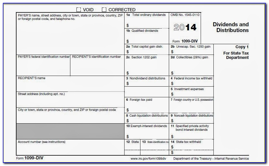 Form 1099 Misc 2014