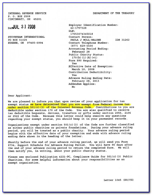 Faqs Kids Non Profits Usa Tax Exempt Applications For Youth Irs Tax Exempt Letter 1275 X 1650
