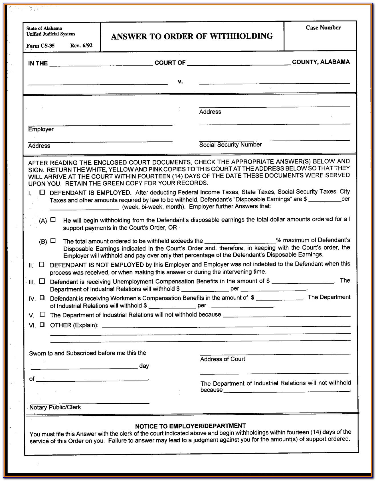 Free Alabama Divorce Forms