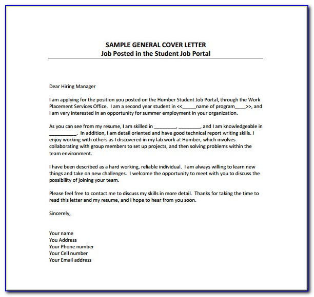Free Cover Letter Examples Download