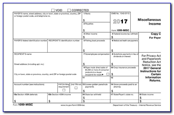 Free Downloadable 1099 Form 2017