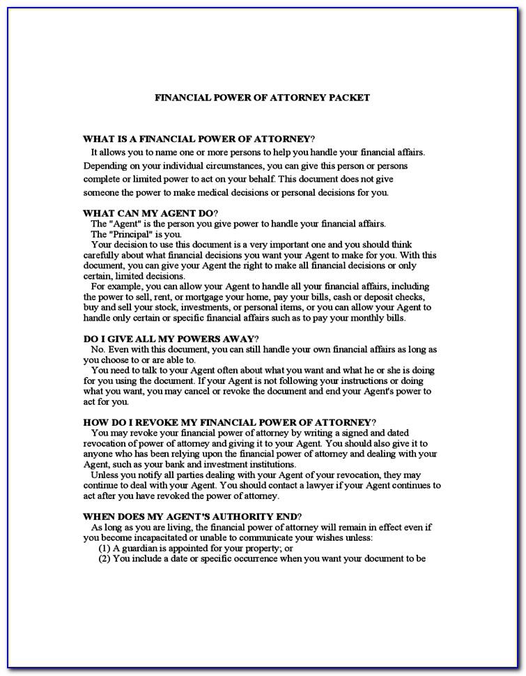 Free General Power Of Attorney Form Georgia
