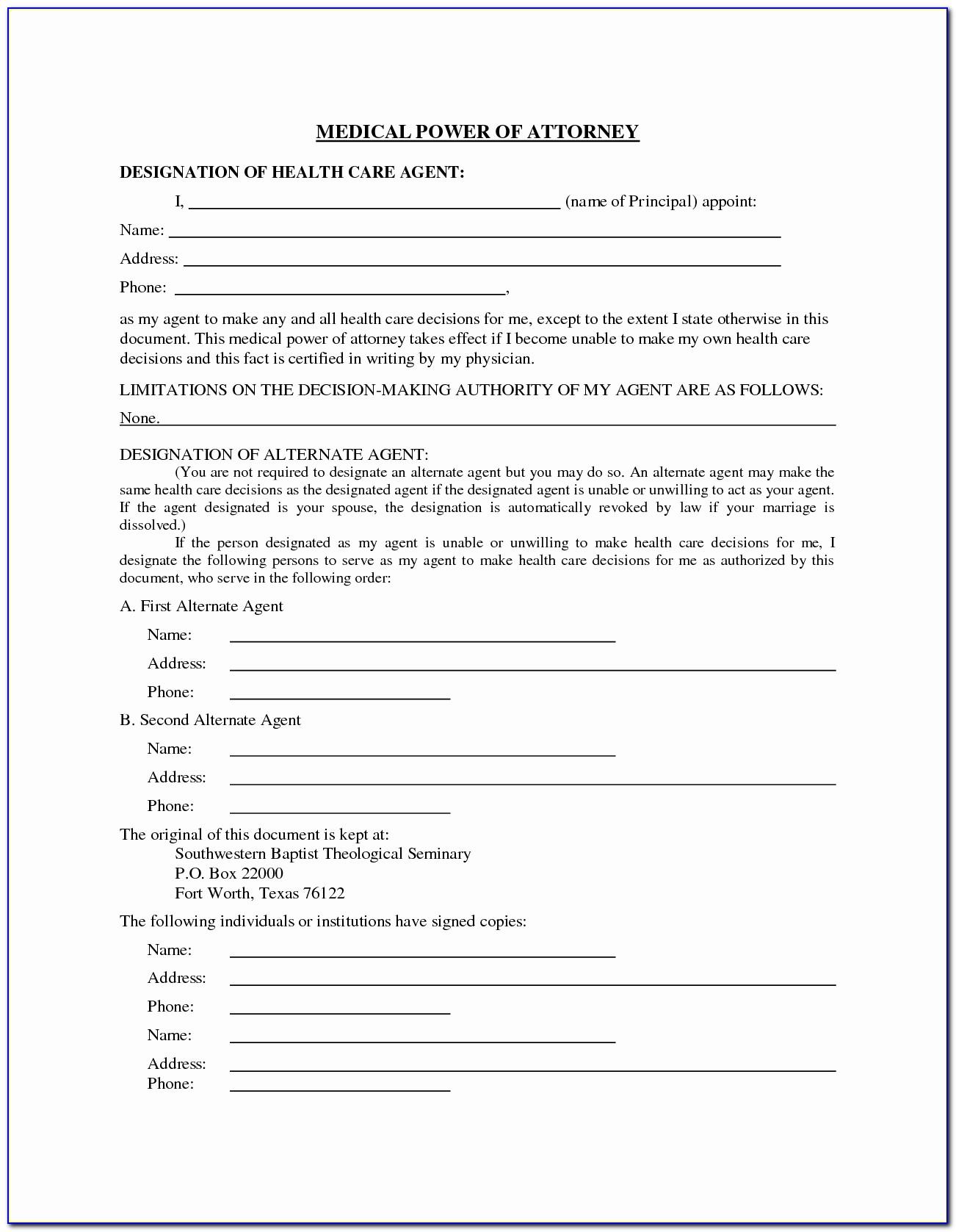 Free Health Care Surrogate Form Florida