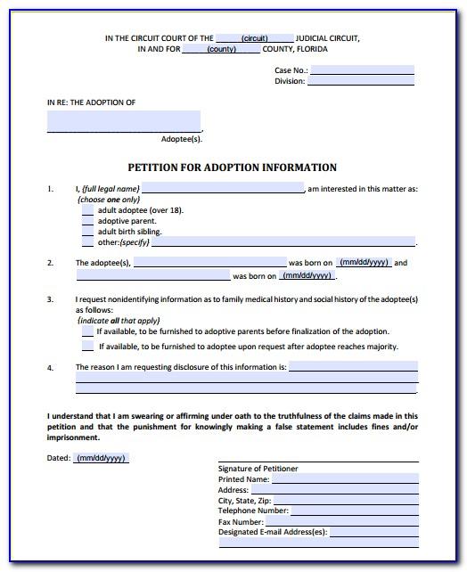 Free Indiana Stepparent Adoption Forms