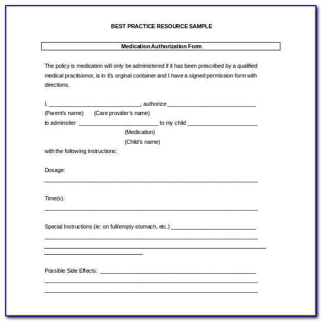 Free Medical Release Form For Babysitter
