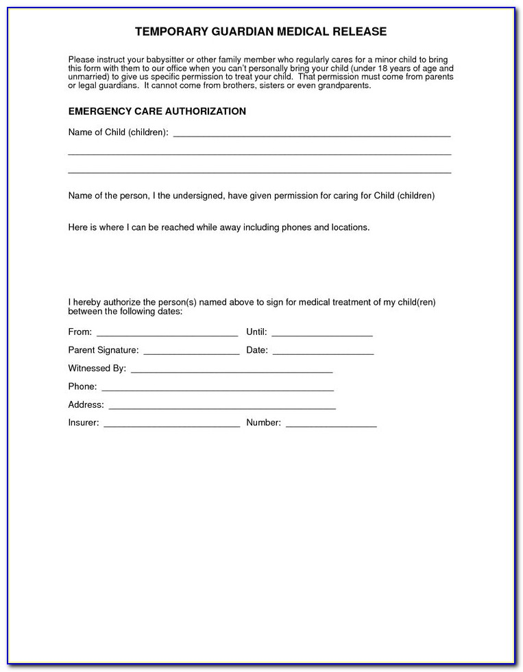 Free Medical Release Form Printable