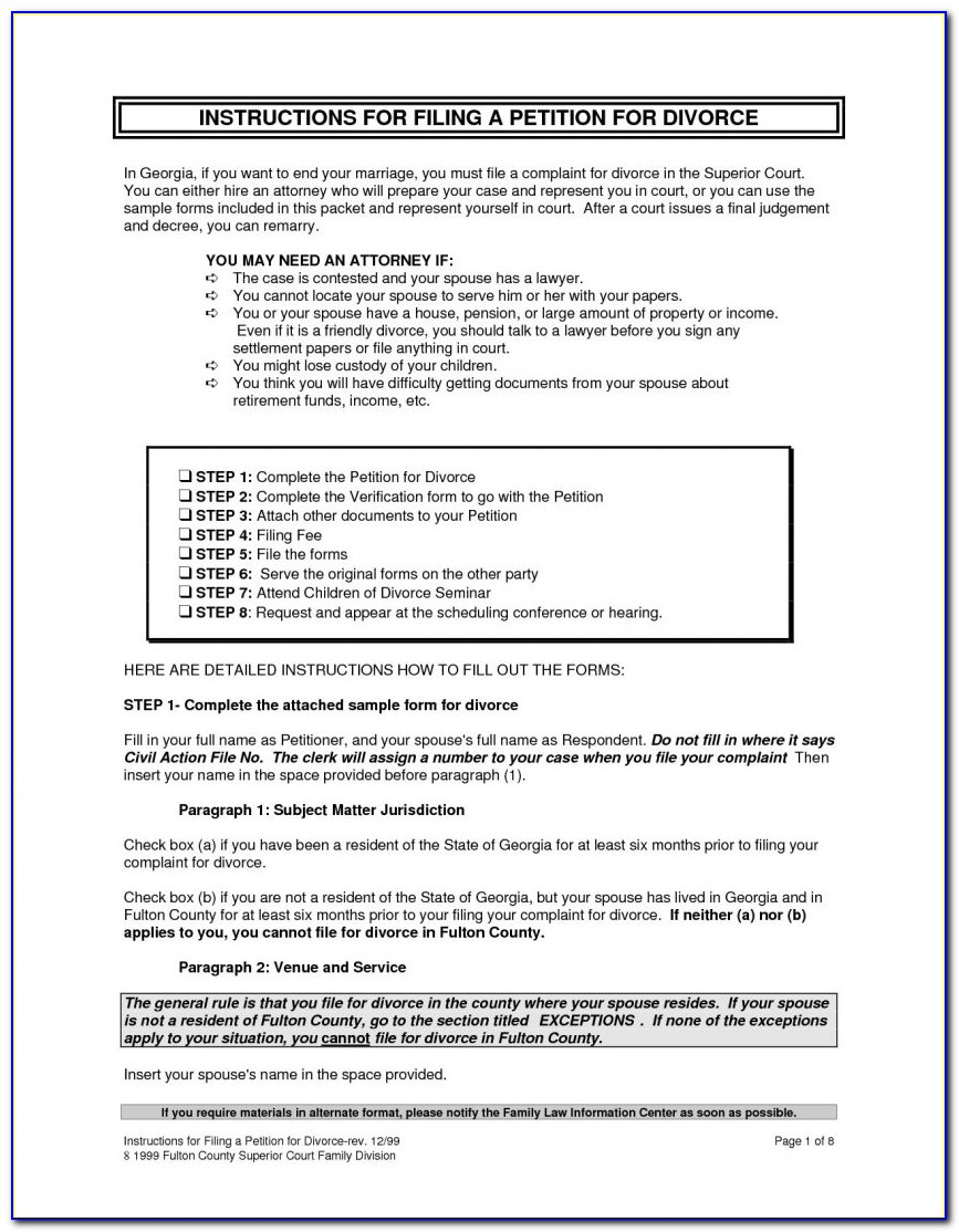 Free New Jersey Divorce Forms