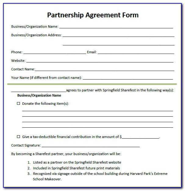 Free Partnership Agreement Form Doc