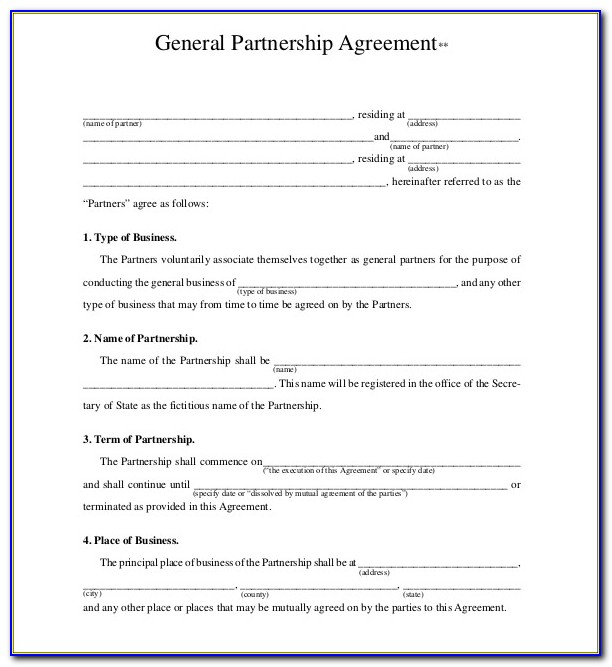 Free Partnership Agreement Form Philippines