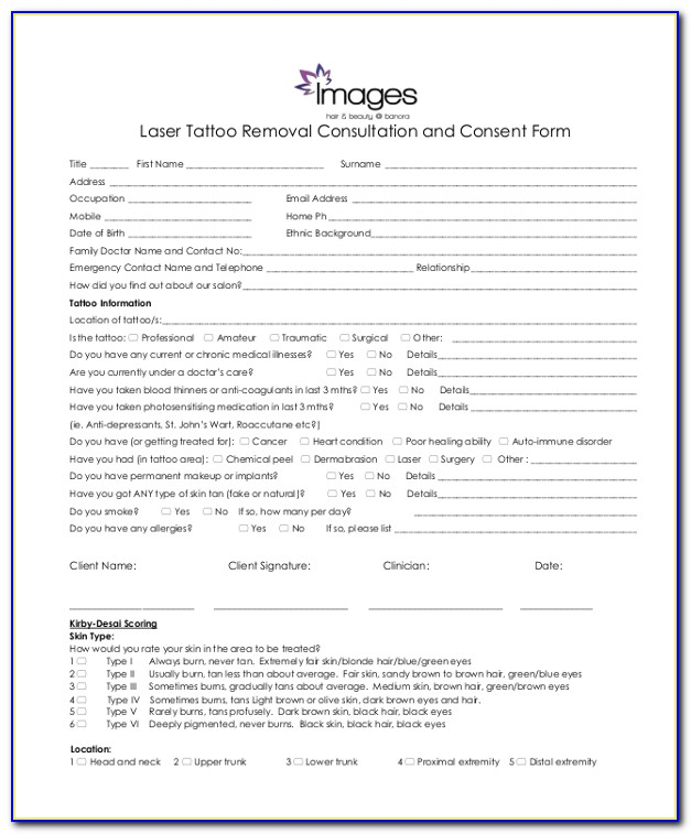 Free Permanent Makeup Consent Forms