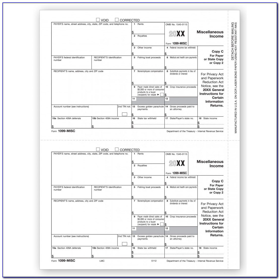 Free Printable 1099 Misc Form 2014