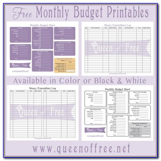 Free Printable Budget Worksheets Pdf