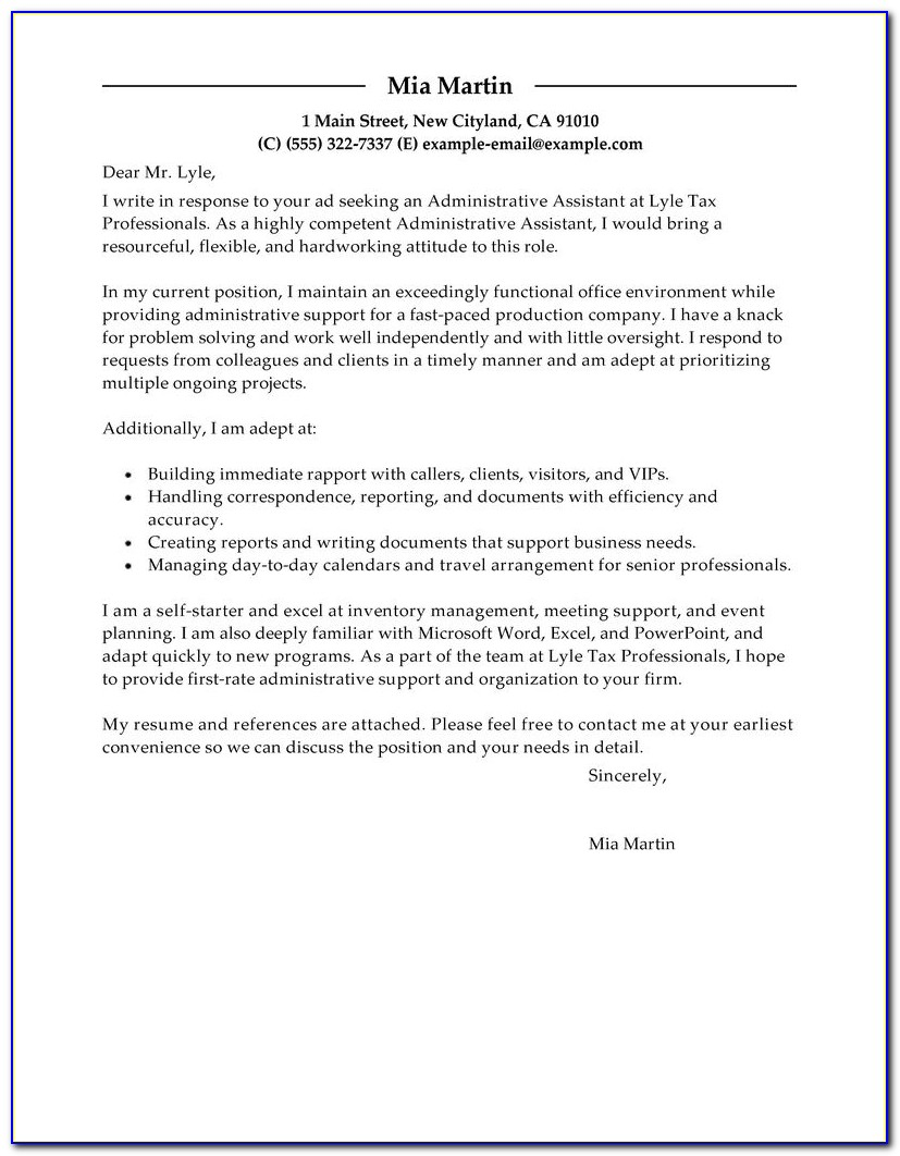 Free Cover Letter Examples For Every Job Search | Livecareer In How To Write A Resume Cover Letter Sample