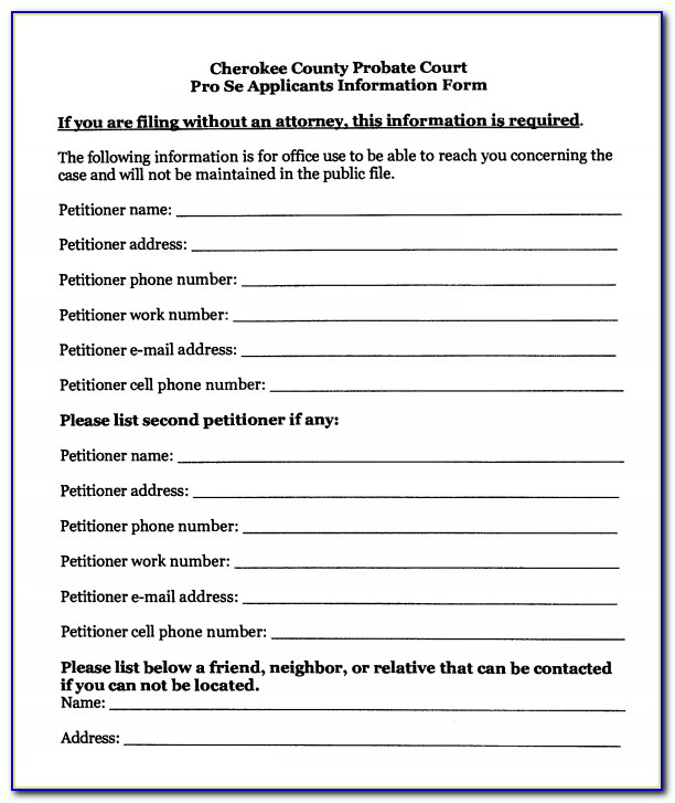 Free Printable Guardianship Forms For Indiana