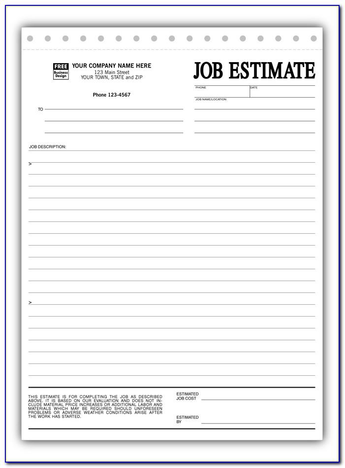 Free Printable Job Proposal Forms
