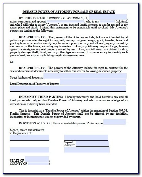 Free Printable Medical And Financial Power Of Attorney Forms