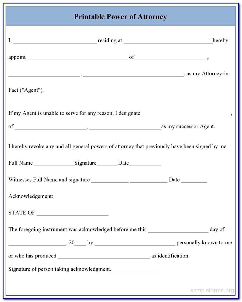 Free Printable Medical Power Of Attorney Form Alabama