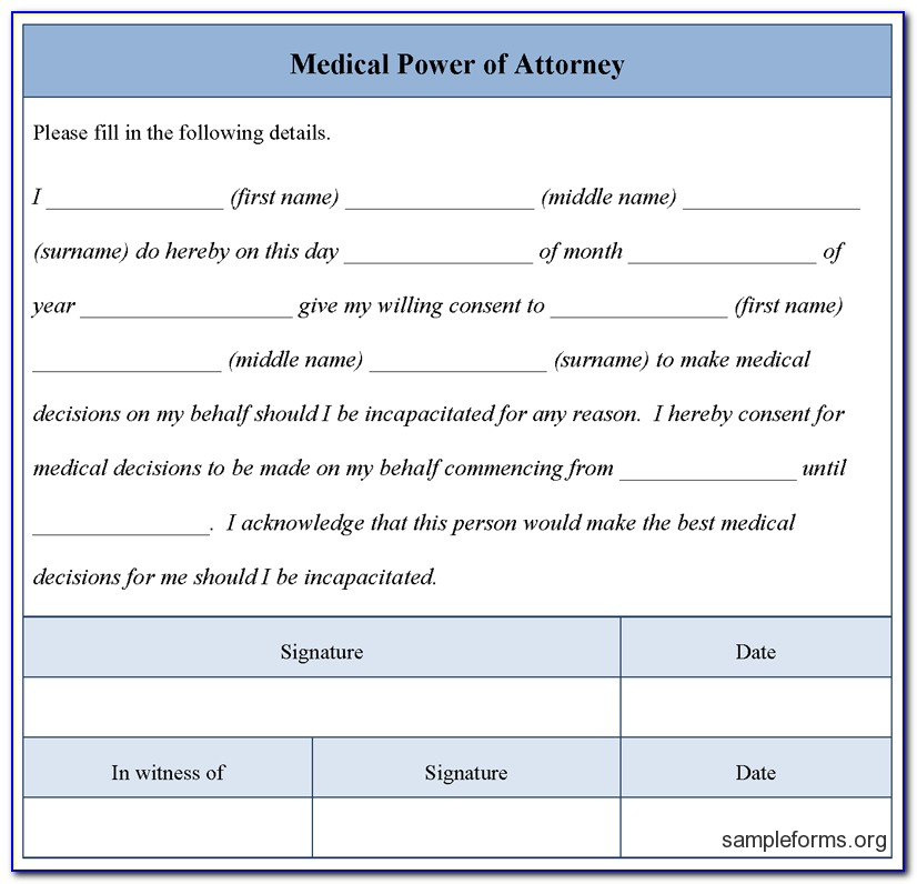 Free Printable Power Of Attorney Forms Pa