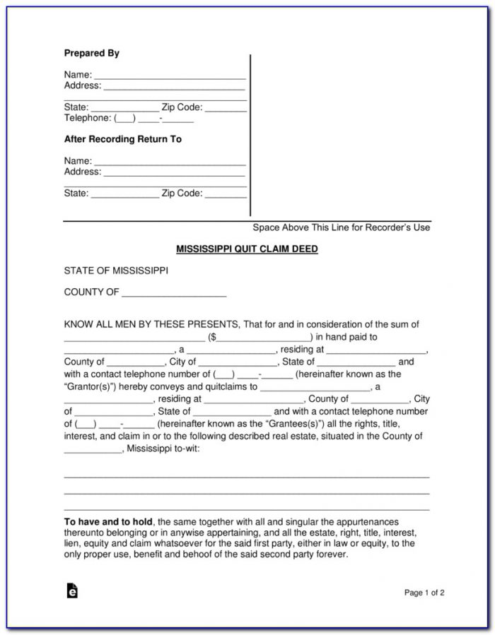 Free Printable Quit Claim Deed Form Tennessee