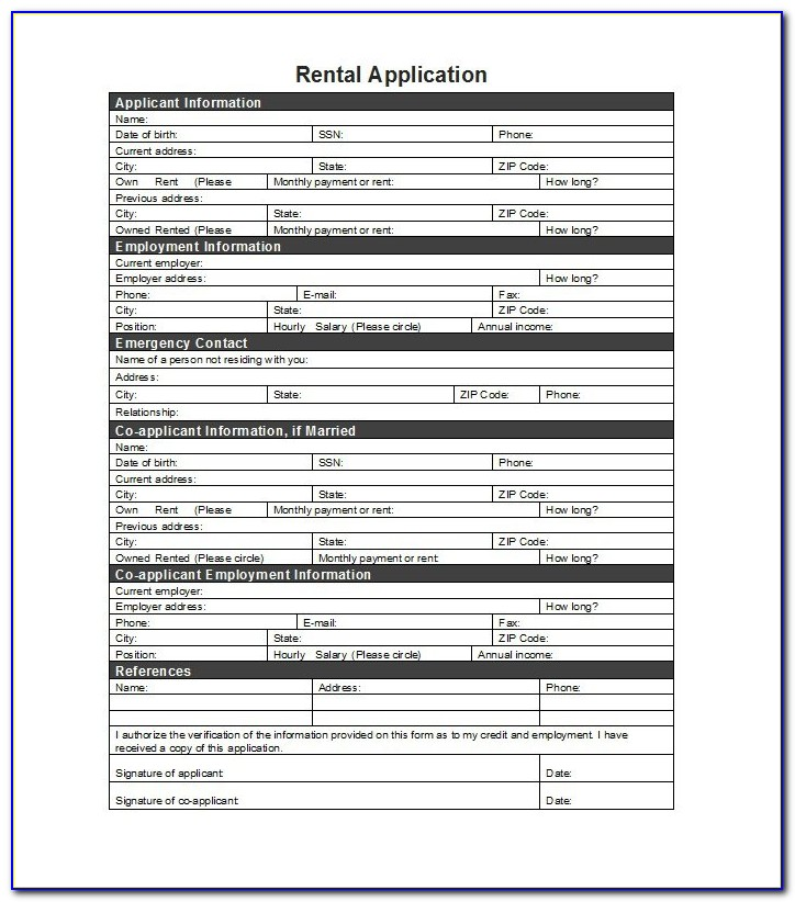 Free Printable Rental Agreement Form Az