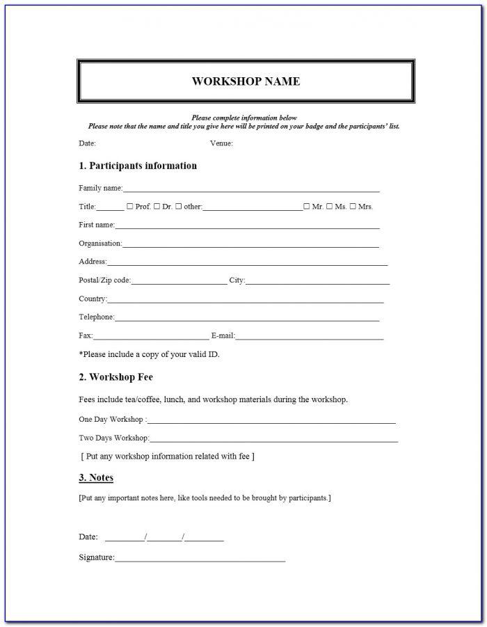 Free Registration Form Template Html5