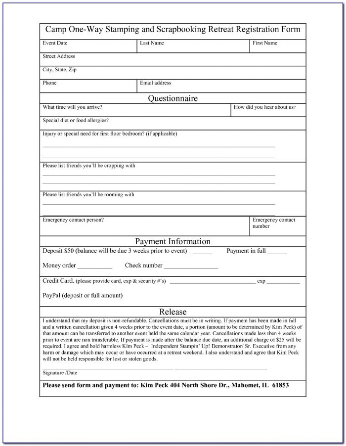 Free Registration Form Template Php